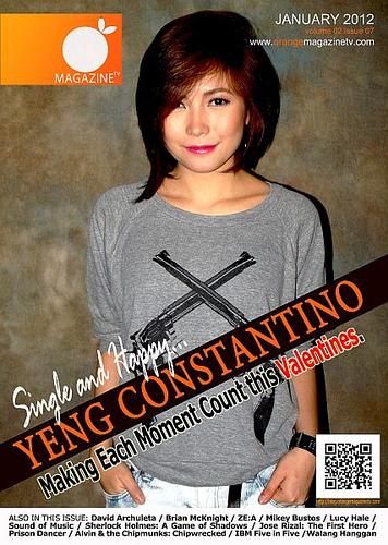 Yeng Constantino Is Orange Magazine Tv S January 2012 Cover Orange Magazine