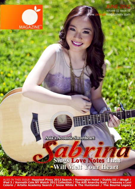 June 2012 Cover - Asia's Acoustic Sweetheart Sabrina ...
