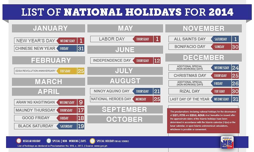 2014 PHILIPPINE HOLIDAYS EPUB