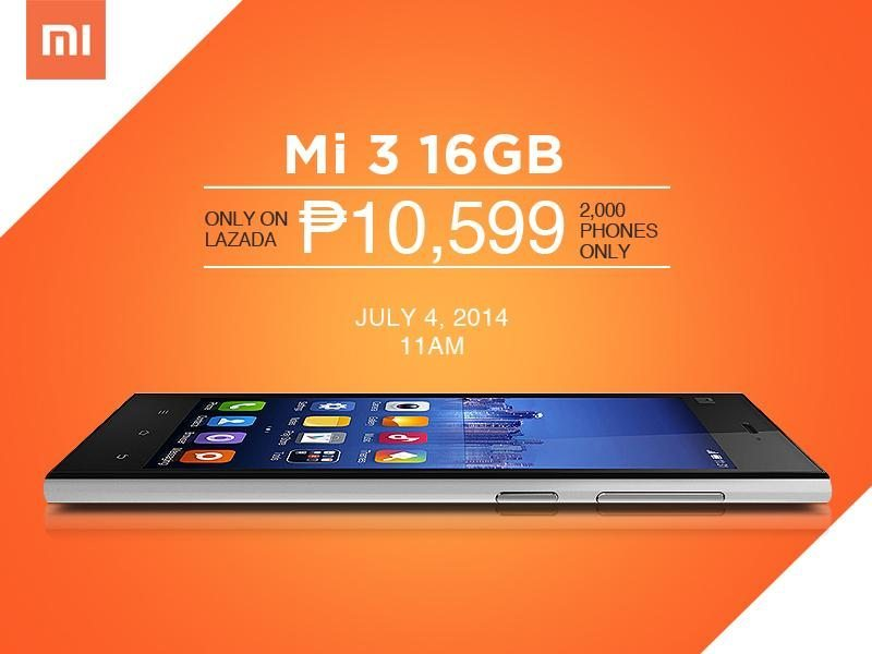 Xiaomi Mi 3 Madness Revs Up With Lazada.com.ph - Orange
