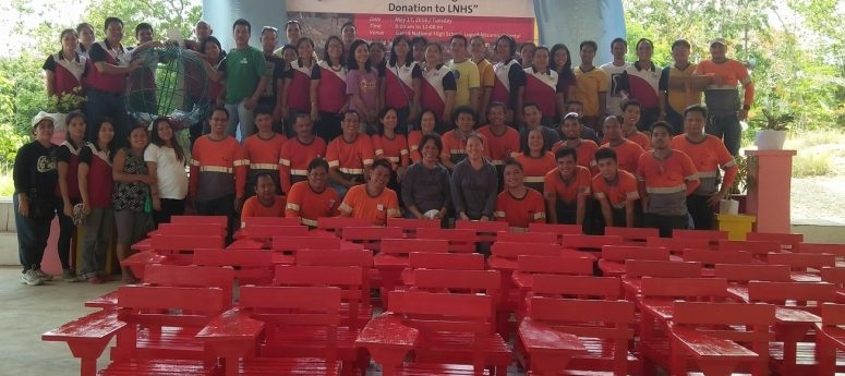 Holcim PH employees including this group in Lugait Misamis Oriental again participated in the DepEd's Brigada Eskwela