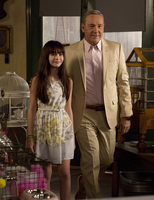 Malina Weissman and Kevin Spacey