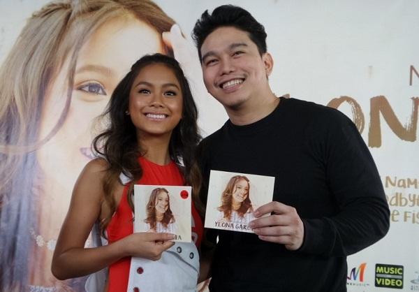 Ylona Garcia and album producer Rox Santos