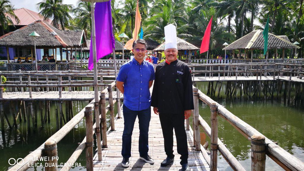 Managing Director Gilbert Remulla and Executive Chef Vill Purificacion