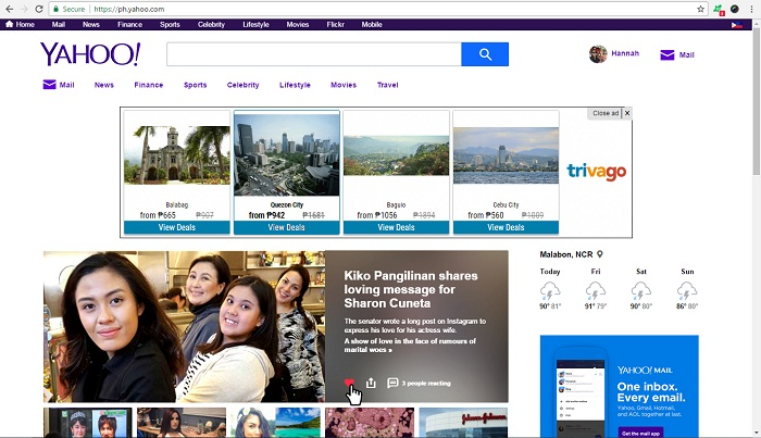 yahoo philippines sign up