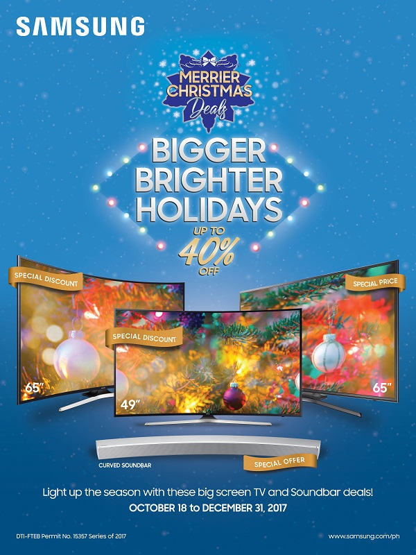 have a merrier christmas with samsung tv s bigger and brighter holidays promo orange magazine. Black Bedroom Furniture Sets. Home Design Ideas