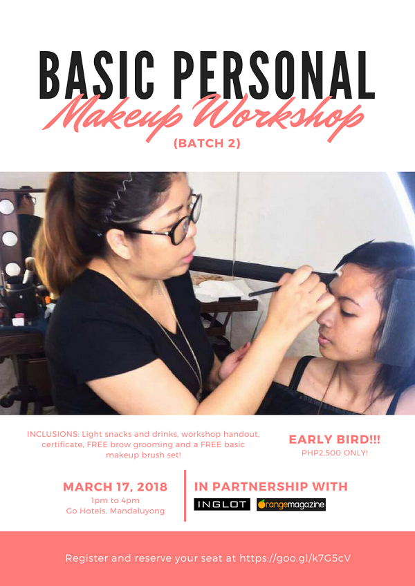"""Sai Montes Makeup Artistry is having another class on """"Basic Personal Makeup,"""" where you can learn the foundation of that perfect look for any occasion ..."""