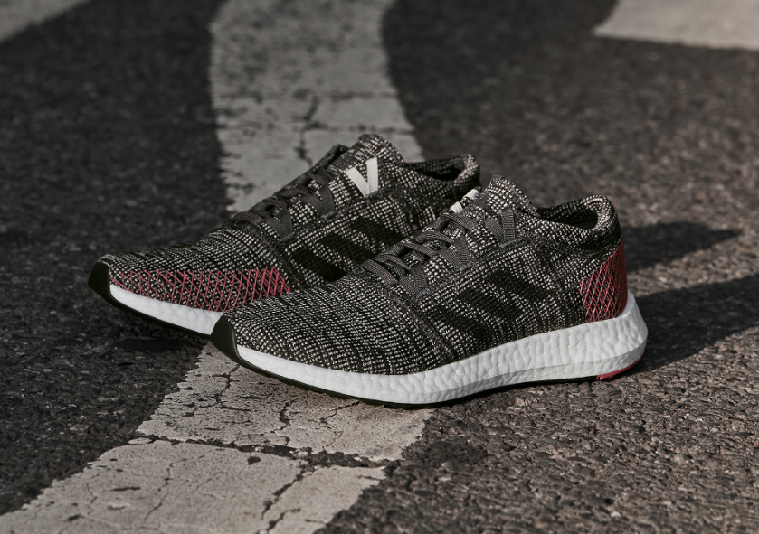 687031d4d The PureBOOST GO features a brand-new Expanded Landing Zone – a wider  forefoot platform for increased forefoot stability during multi-directional  movements.