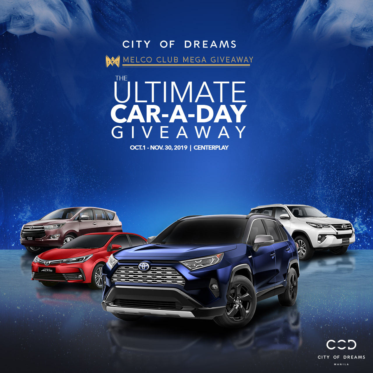 Brand New Toyota Car Up For Grabs In City Of Dreams Manila S Ultimate Car A Day Giveaway Promo Orange Magazine