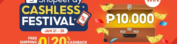 Shopee | Top Up and Transfer for a Chance to Win ₱10,000 at the ShopeePay Cashless Festival